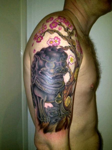 Shoulder Japanese Tattoo by Bout Ink Tattoo