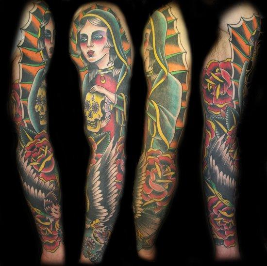 Arm New School Tattoo by Broad Street Studio