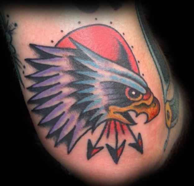 Old School Adler Tattoo von Broad Street Studio