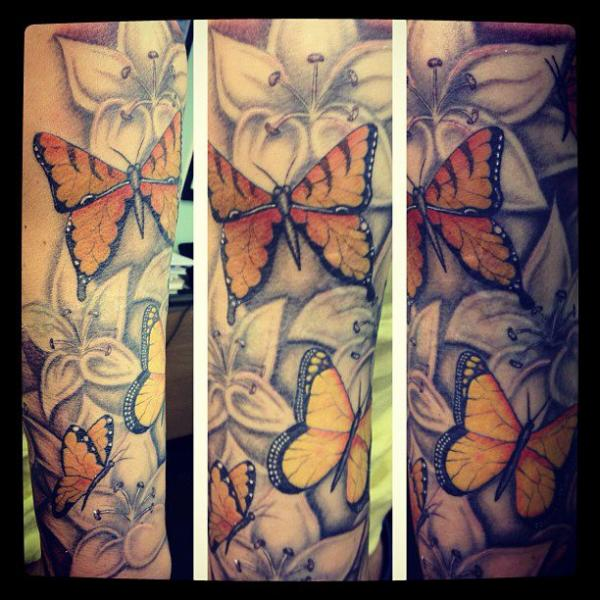Realistic Butterfly Tattoo by Colchester Body Arts